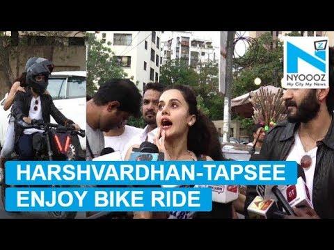 Harshvardhan Kapoor enjoys bike ride with Tapsee Pannu