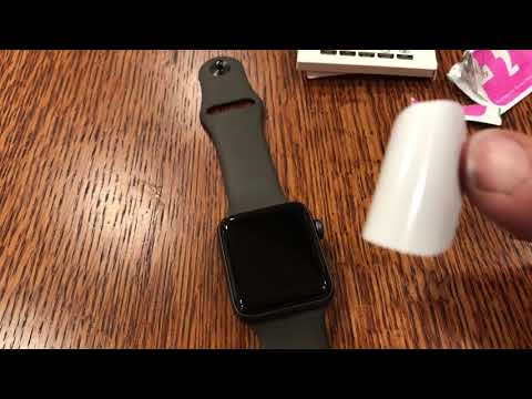 The difficulties of trying to install a screen protector on an iwatch Apple Watch Series 1 2 or 3