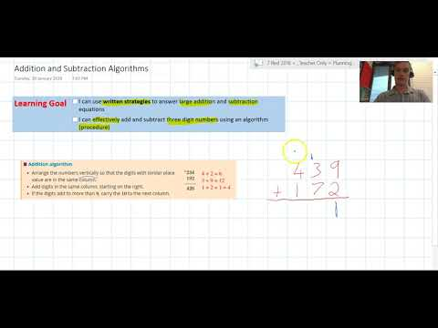 Addition and Subtraction Algorithms