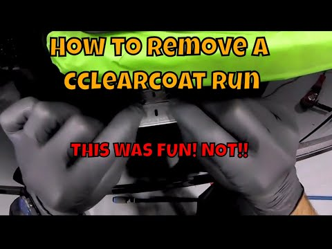 How to remove a run - removing clear coat runs