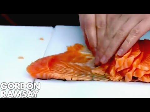 Salmon slicing world record - Gordon Ramsay