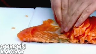 Salmon slicing world record - Gordon Ramsay