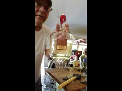 How to make a liquor bottle lamp.