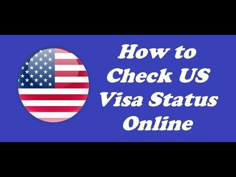 How to Check USA Visa Application Status Online |  Check Visa Status Online