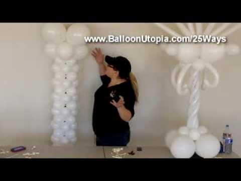 How to Make a Balloon Roman Column or Tower