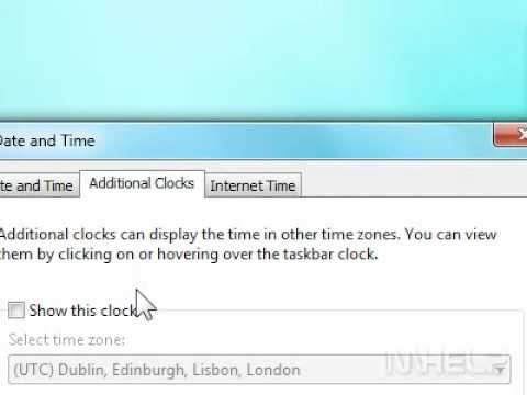 How to display an additional clock in Windows 7