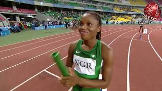 Highlights   Women's 4x400m Relay Final - 11th African Games 2015