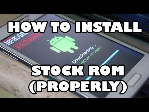 HOW TO INSTALL STOCK ROM ! (BEST TUTORIAL) - NO TRACE OF ROOTING