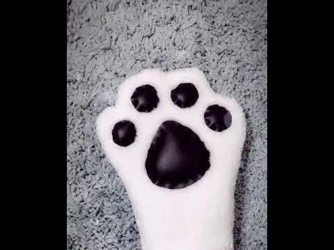 Cute Cat Paw Mittens, Hand Sew