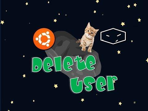 ubuntu delete user using command line