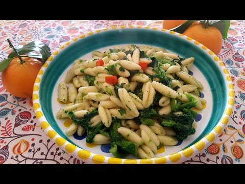 Cavatelli with Broccoli Rabe Cavatelli con Cime di rape