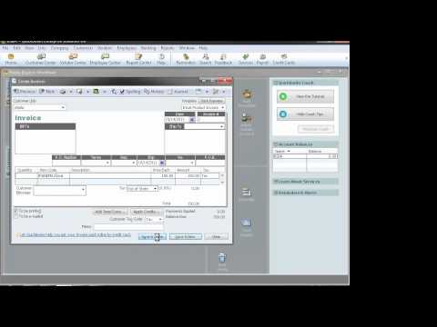 QuickBooks: Create Invoices, Receive Payments & Record Deposits