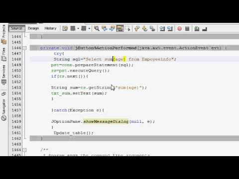 Java prog#105. Take count of  all rows of one column from sql in java netbeans