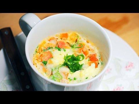 How to Cook Chinese Egg Omelet with Tomatoes in a Microwave? CiCi Li