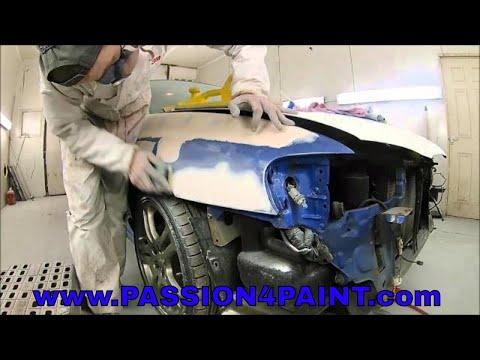 PART 1. Subaru Impreza Repaint and Repairs , Primed with the Devilbiss FLG-5