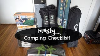 Family Camping Checklist!