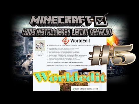 Worldedit für Singleplayer in Minecraft 1.8 Mods installieren leicht gemacht #5 Tutorial