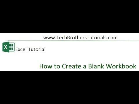 How to create Blank Workbook in Excel - Excel Tutorial
