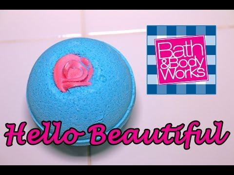 BATH & BODY WORKS - Hello Beautiful Bath Bomb - DEMO - Underwater - REVIEW - SLOW MOTION