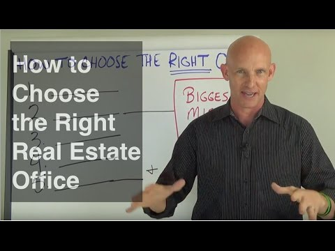 How to Choose the Right Real Estate Office for New Agents