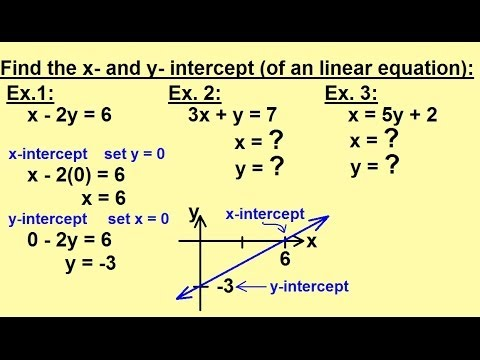 Algebra - Word Problems - Find the X and Y Intercepts
