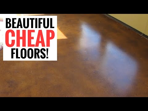 Amazingly cheap and stunningly beautiful floors - Easy DIY Stained Concrete