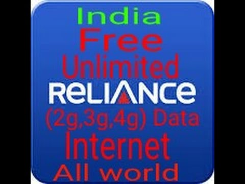 ( india) Free reliance unlimited data(2g/3g/4g) with proof