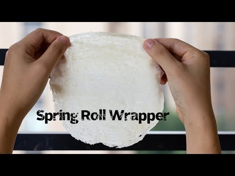 Easy Spring Roll Wrappers (春卷皮)