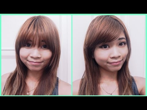 How to Style Straight Bangs to the Side
