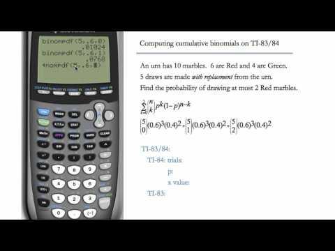 Binomial CDF (Cumulative Distribution Function) on TI-83 & TI-84