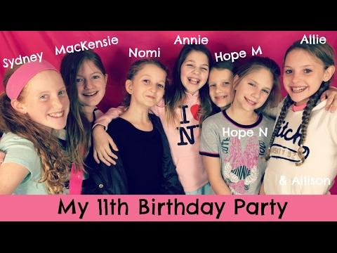 My 11th Birthday Party | Bonfire Sleepover