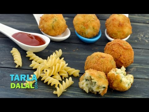 Pasta Cheese Balls/ Party Starter or Appetizer Recipe by Tarla Dalal