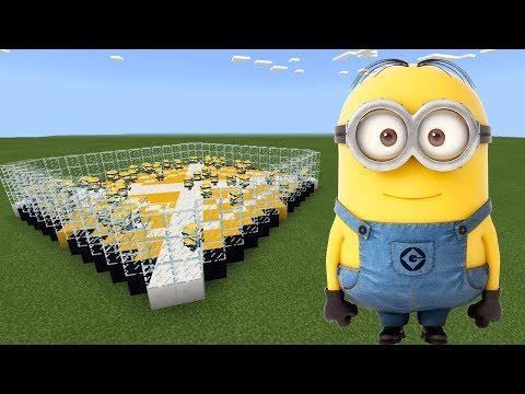 How To Make a MINION FARM in Minecraft PE