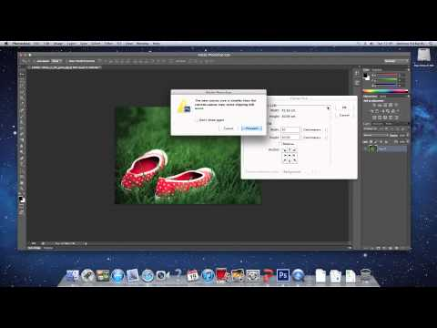 How to crop an image (using canvas size)