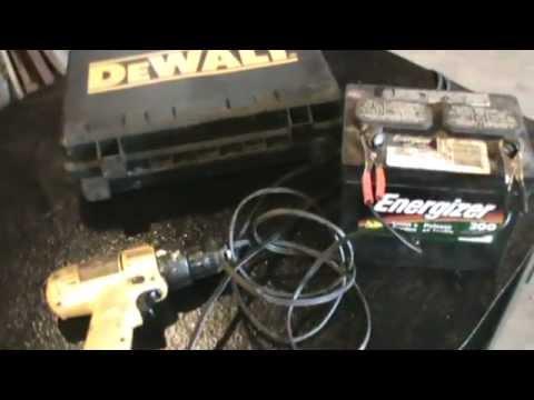 Recycling a 12v cordless drill