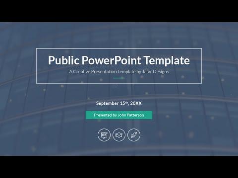 Public Presentation PowerPoint Template