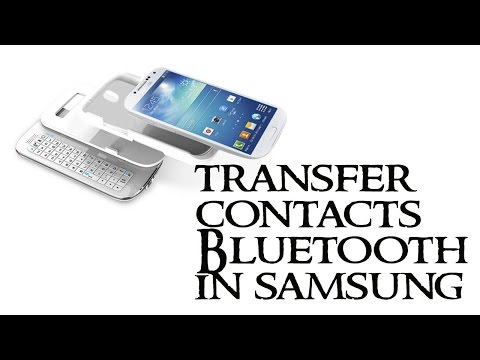 How to transfer contacts using Bluetooth in samsung (Android OS Version 4.4 (Kit Kat))?