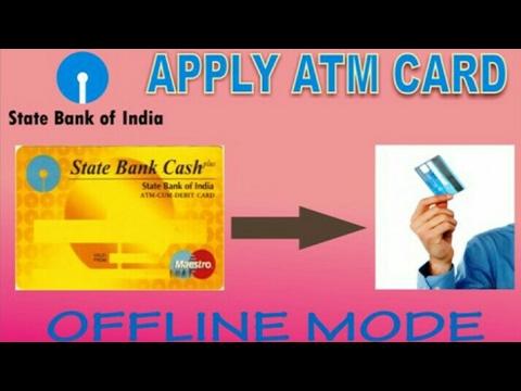 SBI ATM Card apply form filling in Hindi || Offline mode||