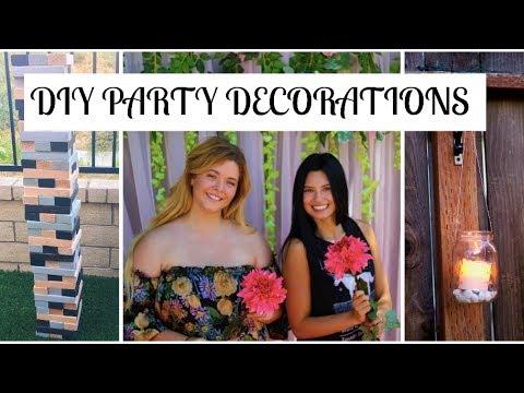 DIY Backyard Party Decorations | BOHO Inspired