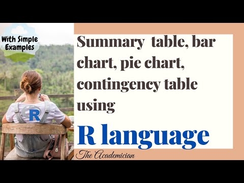 R Language Summary  table, bar chart, pie chart, contingency table