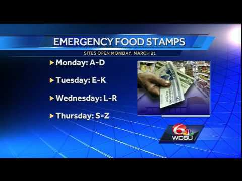 Flood victims may be eligible for emergency food stamps