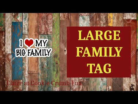 Large Family Tag- Wanna know more about us?