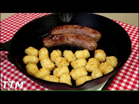Brats and Tots~Sausage and Tater Tots