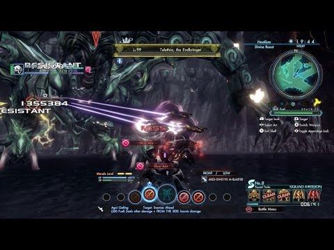 Xenoblade Chronicles X - Ares 90 VS LV99 Telethia, the Endbringer!