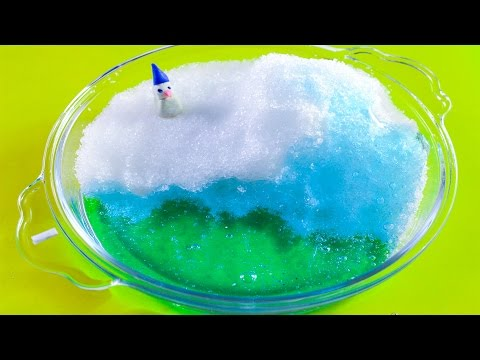 DIY Miniature Winter Iceland How to make an iceland snow play with snow play doh snowman