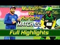 Multan Sultans Vs Karachi Kings I Full Highlights Match 22 HBL PSL