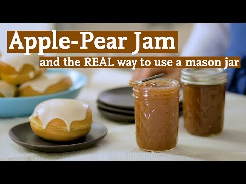 How to Make Apple & Pear Spiced Jam Sufganiyot