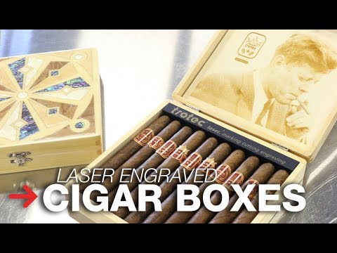 Laser Engraved Cigar Box | Wood Inlay Humidor | Trotec