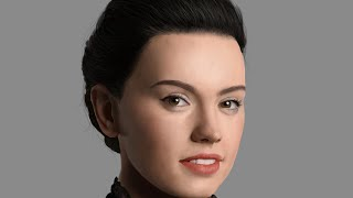 Speed Painting - Daisy Ridley ( Rey - Star Wars : The Force Awakens )