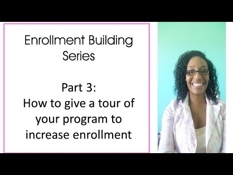 How to start a daycare Business   How to give a tour of your Program to Increase Enrollment Part 3